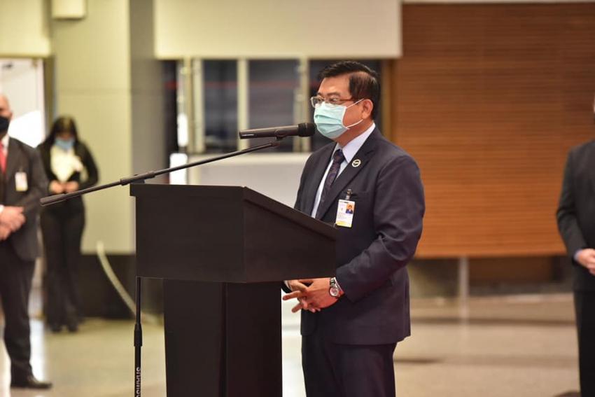 Ceremonia de entrega de diplomas de Certificación y Recertificacion de 109 agentes de seguridad aeroportuaria.
